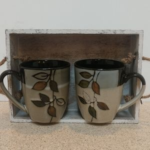 Rustic Leaves Coffee Cups 12 ounces